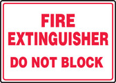 Fire Extinguisher Do Not Block