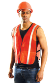 """Safety Vest Reflective Orange - Regular Fits 34""""-42"""" Chest  (8 safety vests)"""
