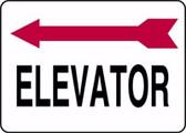 Elevator Sign- Arrow Left