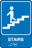 Stairs Sign- ADA Brdaille Tactile Sign