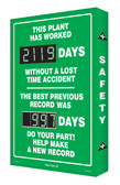 Digi Day 2 Electronic Safety Scoreboard Accuform SCG119