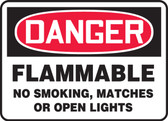 Danger - Flammable No Smoking, Matches Or Open Lights