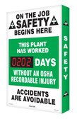Outdoor Safety Scoreboards- Digi Day Plus- This Plant Has Worked SCM303