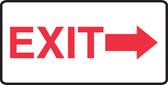 Exit (Arrow Right) - .040 Aluminum - 7'' X 14''