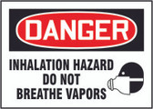 Inhalation Hazard Do Not Breathe Vapors (w/graphic)