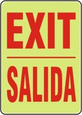 Bilingual Spanish Exit Sign- Glow Sign