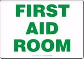 First Aid Room Sign Green Letters