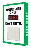 Countdown Scoreboard- Digi Day Number Display- Green-White