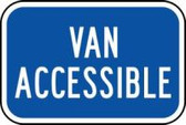 (california) Van Accessible Sign