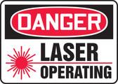 Danger Laser Operating Sign