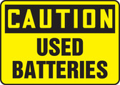 Caution - Used Batteries