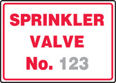 Sprinkler Valve No. ___