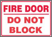 Fire Door Do Not Block