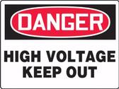 MELC087 Danger High Voltage Keep Out Sign