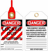 Danger Locked Out Do Not Operate Lock & Loop Safety Tag