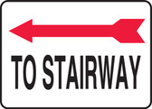 To Stairway Sign- Arrow Left