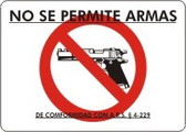 No Se Permite Armas De Conformidad