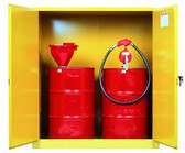 Justrite Vertical Drum Safety Cabinet | 110 gallon