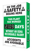 Digi Day 2 Electronic Safety Scoreboard- On The Job Safety Begins Here SCG109