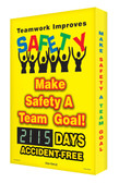 Digi Day 2 Electronic Safety Scoreboard- Teamwork Improves Safety SCG115
