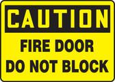 Caution - Fire Door Do Not Block