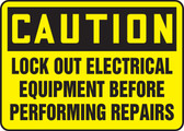 Lock Out Electrical Equipment Before Performing Repairs