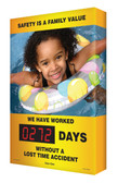 Safety Scoreboard Outdoors Digi Day Plus Safety is a Family Value SCM323