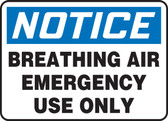 Breathing Air Emergency Use Only