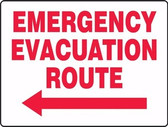Emergency Evacuation Route Sign with Arrow Left 1