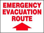 Emergency Evacuation Route Sign with Arrow up 1