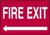 Fire Exit Sign Left Arrow