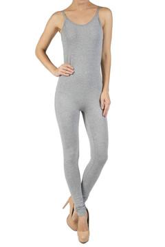 Spaghetti Strap Basic Cotton Jumpsuit - Imported