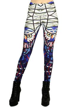 Mosaic Owl Leggings - Plus Size