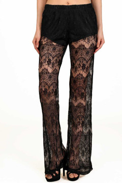 Sultry Lace Wide Leg Pants