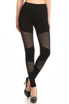Premium Viper Mesh Black Leggings