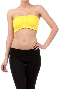 Ruched Bandeau Seamless Top