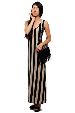 Sassy Wide Stripe Maxi Dress