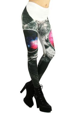 Cosmic Cool Sunglasses Cat Leggings
