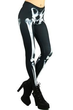 Human Skeleton Leggings