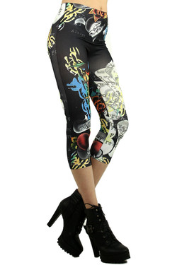 Floral Breeze Seamless Capri Leggings