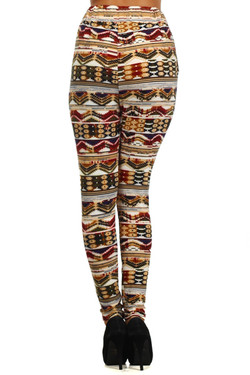 Colorful Embrace Tribal Harem Leggings