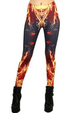 Burning Skeleton Leggings