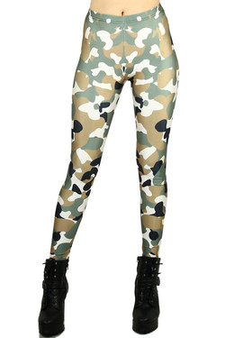 Incognito Camouflage Leggings - Plus Size