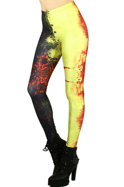Splattered Contrast Leggings