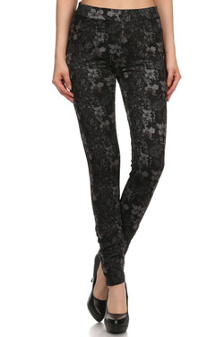 Paisley Floral Fleece Lined Pocket Leggings