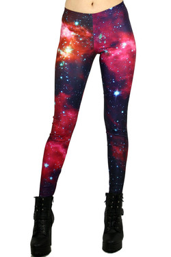 Cardinal Blush Galaxy Leggings