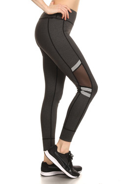 Mesh Window High Waisted Sport Leggings