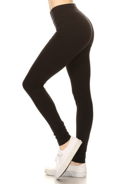 High Waisted Cotton Sport Leggings