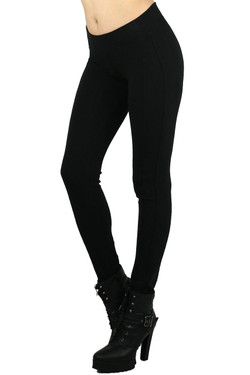 Signature Sport Black Cotton Jeggings