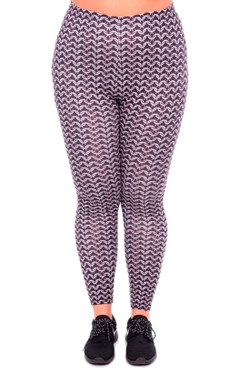Chain Mail Leggings - Plus Size